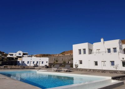 santorini accomodation with pool