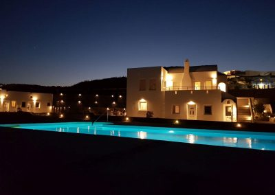 villa scirocco after sunset